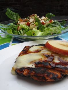 When the sun starts peeking out, fire up the grill and try these BBQ Apple Cheddar Turkey Burgers