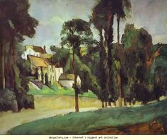 Paul Cézanne. Road at Pontoise. Olga's Gallery.