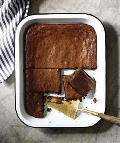 Dark muscovado sugar pulls double duty in this insanely rich, fudgy brownie