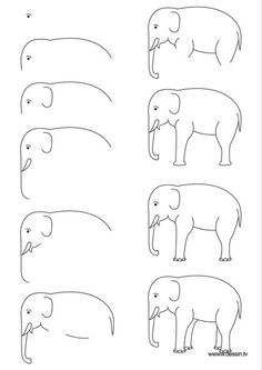 Easy elephant drawing easy step by step art drawings to practice bored art draw an easy Drawing Lessons, Drawing Techniques, Drawing Tips, Art Lessons, Painting & Drawing, Drawing Ideas, Learn Drawing, Art Drawings For Kids, Animal Drawings