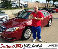 "https://flic.kr/p/uH1qfZ | #HappyAnniversary to James Fincher on your 2012 #Chrysler #200 from Jerry Tonubbee at Southwest Kia Mesquite! | <a href=""http://www.southwestkia-mesquite.com/?utm_source=Flickr&utm_medium=DMaxx&utm_campaign=DeliveryMaxx"" rel=""nofollow"">www.southwestkia-mesquite.com/?utm_source=Flickr&utm_...</a>"