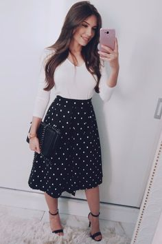 ideas for skirt outfits plus size classy Source by skirts Modest Dresses, Modest Outfits, Classy Outfits, Modest Fashion, Casual Outfits, Fashion Outfits, Modest Clothing, Jw Fashion, Modest Wear