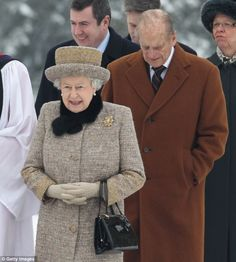 HM The Queen and Duke of Edinburgh attend church on the eve of Accession Day 5th Feb 2012
