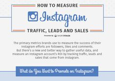 How to Measure Instagram Traffic, Leads and Sales [Infographic]