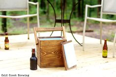 Igloo Picnic Cooler Insulated Carton Wooden by coldcreekbrewing, $55.00