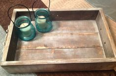 Rustic decorative tray by SugarGroveCottage on Etsy, $18.00