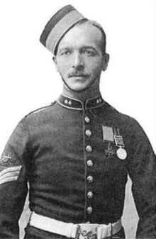 George Edward Nurse, VC. Second Boer War, Battle of Colenso , 1899(Aged 23).Corporal in the 66th Battery,Royal Field Artillery. B. Enniskillen 1876. D. Liverpool 1945. CITATION :Corporal Nurse assisted Lieutenant Roberts & Captain Congreve in an attempt to rescue the guns of the 14th & 66th batteries.All three running through heavy shell & rifle fire.
