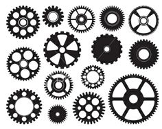 Mixed Gears Royalty Free Stock Vector Art Illustration