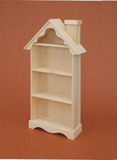 "Solidwood ""House"" Bookshelf - an encouraging piece for a child's bedroom. #kidsfurniture #bookshelf"