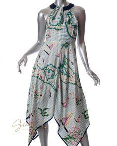 Gidget Loves This Eva Franco Anthropologie Size 2 Cartographer Maps Dress Handkerchief Hem #Anthropologie #EvaFranco #spring #dress #GidgetLovesFashion