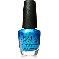 Opi I Sea You Wear Opi Nail Lacquer (£5.58) ❤ liked on Polyvore featuring beauty products, nail care, nail polish, nails, makeup, beauty, opi, blue, opi nail care and opi nail varnish