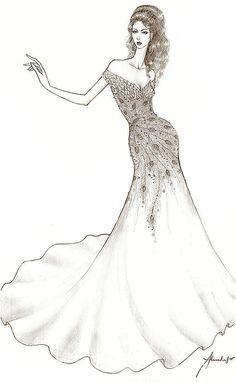 almodal fashion design sketches