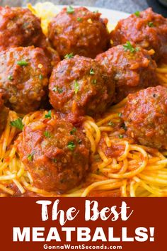 This go-to, foolproof basic baked meatballs recipe will quickly become a family favorite. Beautifully browned on the outside and tender and juicy on the inside, they are super versatile, with or without sauce. #Best #Easy #Italian #Baked #Meatballs #Homemade #Beef #Recipe #Party #Oven #Parmesan #Simple #HowToMake #Dinner #Meals #Breadcrumbs #Pasta #Sauce #Quick #Families #Kids