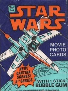 Vintage Star Wars movie card wrapper
