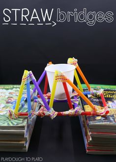 STEM Challenge: Build with Straws - Playdough To Plato Scientific Method Posters, Stem For Kids, Stem Challenges, Stem Projects, Building For Kids, Stem Activities, Challenge Cards, Blog, Third Grade