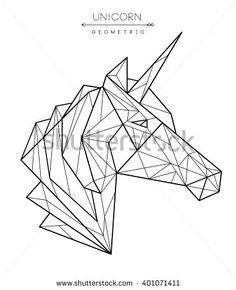 stock-vector-geometric-unicorn-head-tattoo-t-shirt-design-401071411.jpg (382×470)