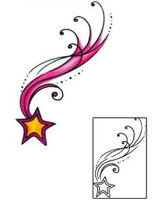 Shooting Star Tattoos AAF-11191 Created by Andrea Ale