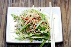 Thai Pork Larb - gorgeously fresh salad made with lean pork, cabbage and tantalising Thai flavours. Light, healthy and perfect. Per serve: 747.2kj (177.9cals); 5.8g total fat (2g saturated fat); 4.3g fibre
