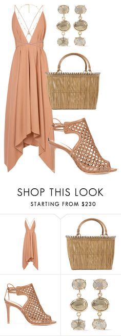 """""""beach fancy"""" by couture4suckers ❤ liked on Polyvore featuring Caravana, Serpui, Alexandre Birman, Melissa Joy Manning and Gucci"""
