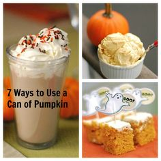 7 Delicious Ways to Use a Can of Pumpkin this fall!
