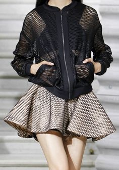 #Mesh #Fashion #Jacket #Skirt #Outfit