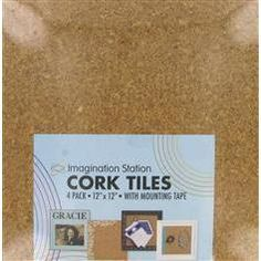 cover a small section of wall with cork tiles to create an inspiration board