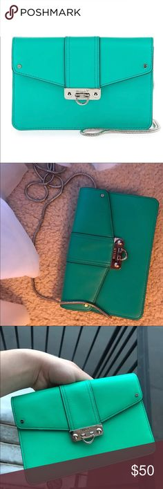 Milly Crossbody Purse / Turquoise Crossbody Excellent condition  Perfect for spring weather Milly Bags Crossbody Bags