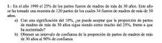 Ejercicio 1A 2006-2007 JUNIO. Contraste de hipótesis.  Pau de matemática para ciencias sociales, Canarias.