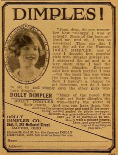 Dolly Dimpler device, advertised in Motion Picture Magazine, 1924