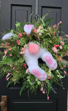 Easy Easter Crafts, Bunny Crafts, Easter Ideas, Easter Decor, Easter Recipes, Easter Wreaths, Holiday Wreaths, Spring Wreaths, Christmas Decorations