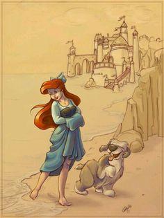 Ariel e o cachorro