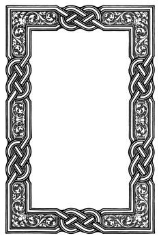 Good Celtic knotwork border for chip carving/wood burning. Border Pattern, Border Design, Pattern Design, Quilt Pattern, Free Pattern, Celtic Symbols, Celtic Art, Celtic Knots, Celtic Dragon