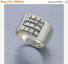 Sterling silver ring,  Kabbalah King Solomon Seal , silver 925,  Path Clearing , color:silver