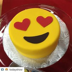 We have had lots of requests for emoji party pretties! This cake is darling! #Repost @todayshow with @repostapp. ・・・ #ValentinesDay emoji cake from @yolanda_gampp this morning on TODAY! #TODAYShow #TODAYFood