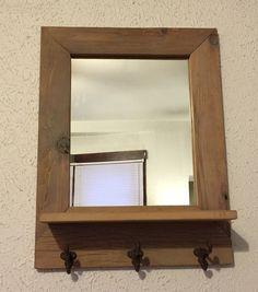 Banc d 39 entr e en bois rustique bois de grange barnwood for Miroir bois de grange