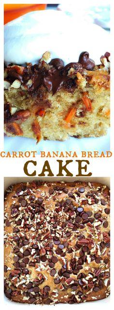 Carrot Banana Bread Cake