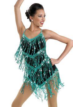 Sequin Fringe Camisole Dress; Weissman Costumes