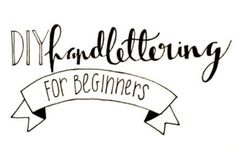 DIY Hand Lettering F