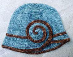 Free Knitting Pattern - Hats: Escargot Hat