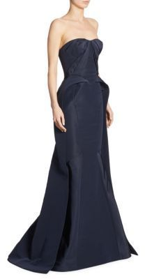 Evening gown fashions. Disclosure: I'm an affiliate marketer. When you click on the link to the retailer, I earn a commission. Zac Posen Strapless Silk Gown