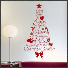 Merry Christmas Spirit of Love Word Tree Holiday Decoration Vinyl Wall Lettering Decal Christmas Tree Vinyl, Christmas Words, Christmas Quotes, All Things Christmas, Christmas Crafts, Merry Christmas, Christmas Decorations, Holiday Decor, Holiday Ideas