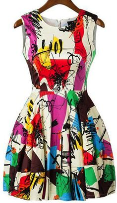 Modern graffiti design dress