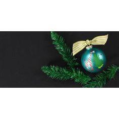Coton Colors Christmas Critters Giraffe Glass Ornament