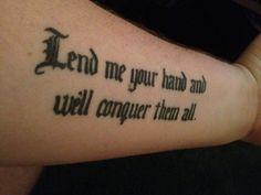 Helping Hand Tattoos Design