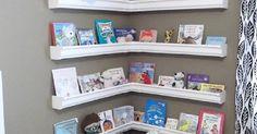 Rain Gutter Bookshelves | Do it yourself, Rain and Home decor