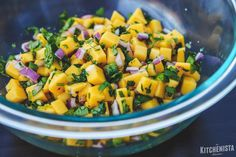 How to Dice Mango for Salsa (and a recipe!) - The Kitchenista Diaries