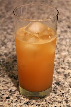 Pumpkin-Apple Sparkler - A refreshing gin drink with apple brandy and pumpkin pie syrup