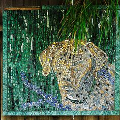 More ideas: Tile mosaic....wonder if emmy could mock this up, cat, dog, bird, all together on one fence...