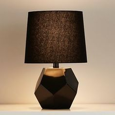 land of nod between a rock black lamp and black shade - Google Search