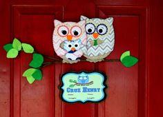 Custom Listing for Robin Owl Family by AddALilCharmBowtique